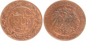 German East Africa 1 Pesa 1890 Prfr. (6) Mint State, Beautiful Kupferpatina
