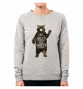Hungry Nm0057a Bear Nemimakeit Orso Animal Felpa Divertente Donna Just Sweeties Carino Exnv1w6Z7q