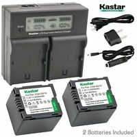 Lcd Dual Fast Charger & 2 X Battery For Panasonic Cgr-du14 Pv-gs31 Vdr-m30 Sdr
