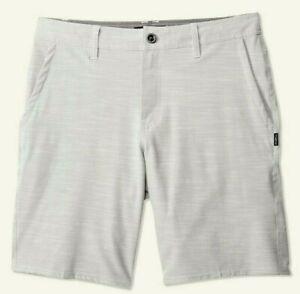 O-039-Neill-LOCKED-SLUB-Mens-20-034-Tri-Blend-Stretch-Hybrid-Shorts-32-Light-Grey-NEW