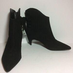 NWT-Zara-Black-Suede-Mid-High-Tassel-Ankle-Bootie-SZ-6-5-37-HTF