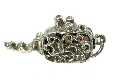 VINTAGE SILVER OPENING CINE CAMERA CHARM