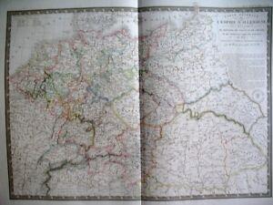 ALLEMAGNE-EMPIRE-PRUSSE-EN-1789-CARTE-ATLAS-BRUE-GRAVURE-1844