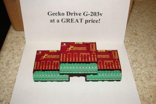 THREE CNC Geckodrive G-203V ONE YEAR FACTORY WARRANTY steppr motor Drvr W//EXTRAS