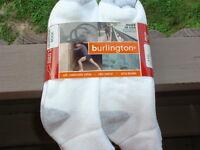 Burlington Made In Usa Mens Quarter Length Socks 6 Pairs Shoe Size 6-12 Cotton
