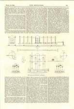 Aparato experimental 1894 Herr Schlick buque de vapor Vibración