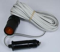 12v 12 volt 5 metre Cigar Cigarette Lighter Socket Adaptor Extension Cable Lead