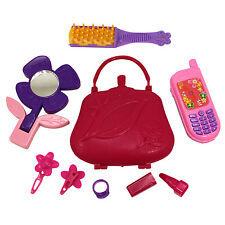 Girls Toy Beauty Diva Set Purse Phone Mirror Ear Rings Brush Pretend Play New
