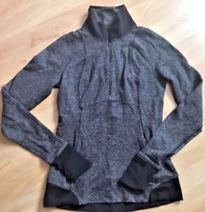 lululemon runderful 1/2 zip pullover jacket size 6 gray