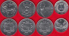 Andorra set of 4 coins: 1 centim 1999-2002 UNC