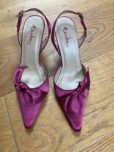 ladies cerise pink wedding bridal dress shoes size 5 eur