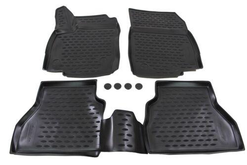 NFLFO701 3D Design Gummimatten Gummifußmatten für Ford B-Max ab 2014 4tlg