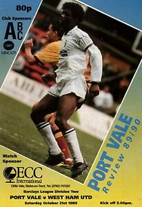 198990 Port Vale v West Ham United Division 2 PERFECT CONDITION - <span itemprop=availableAtOrFrom>Peterborough, Cambridgeshire, United Kingdom</span> - 198990 Port Vale v West Ham United Division 2 PERFECT CONDITION - Peterborough, Cambridgeshire, United Kingdom