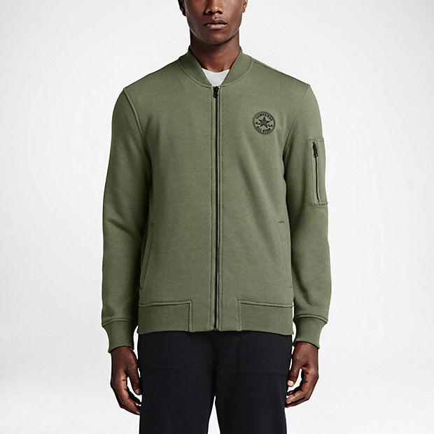 751c682afe06 NEW Men s Converse MA-1 Fleece Bomber Jacket Size  Medium Color  Olive  Heather