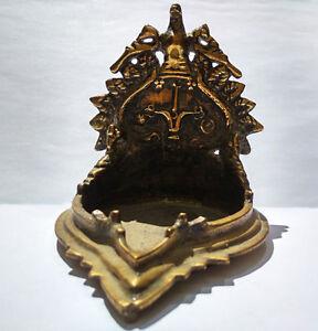 Ancienne Lampe A Huile En Bronze Tamil Nadu Inde Du Sud 18e Ebay