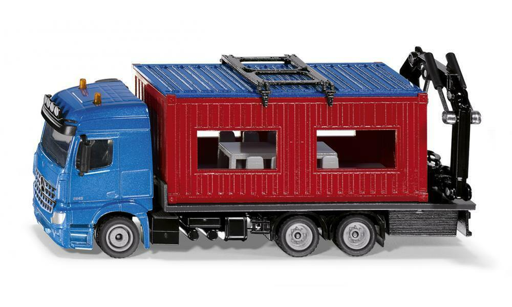 SIKU SUPER MERCEDES AROCS WITH CONTAINER 1 50 NEW IN BOX DIE CAST METAL 3556