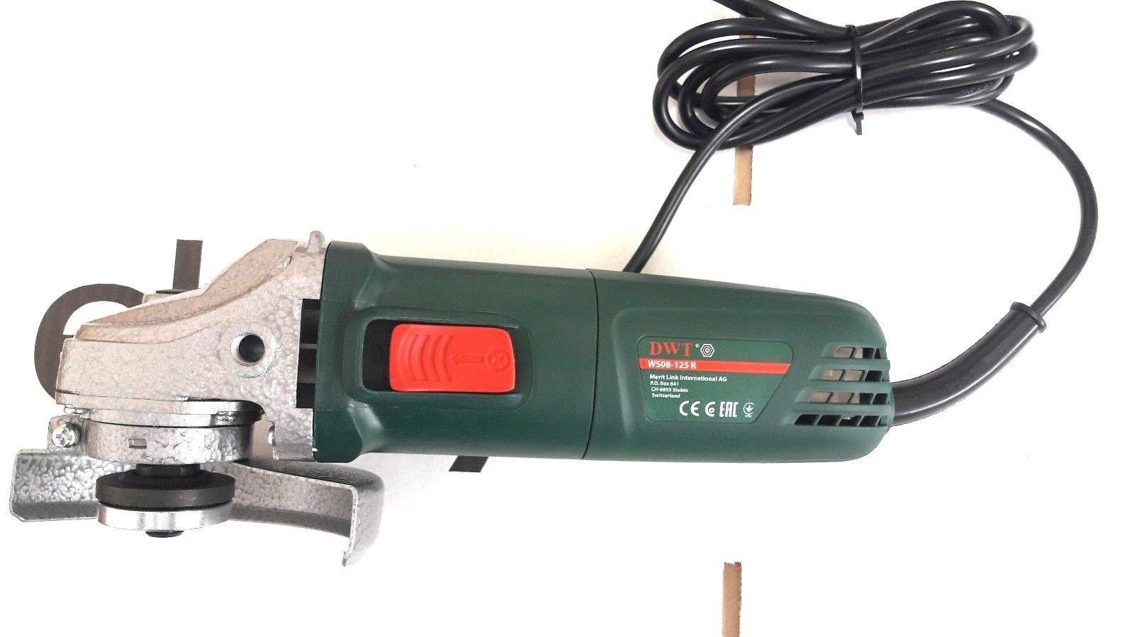 DWT Winkelschleifer Ø 125 mm Schleifer 860 W / / / WS08-125 R DWT Einschaltsperre c68af0