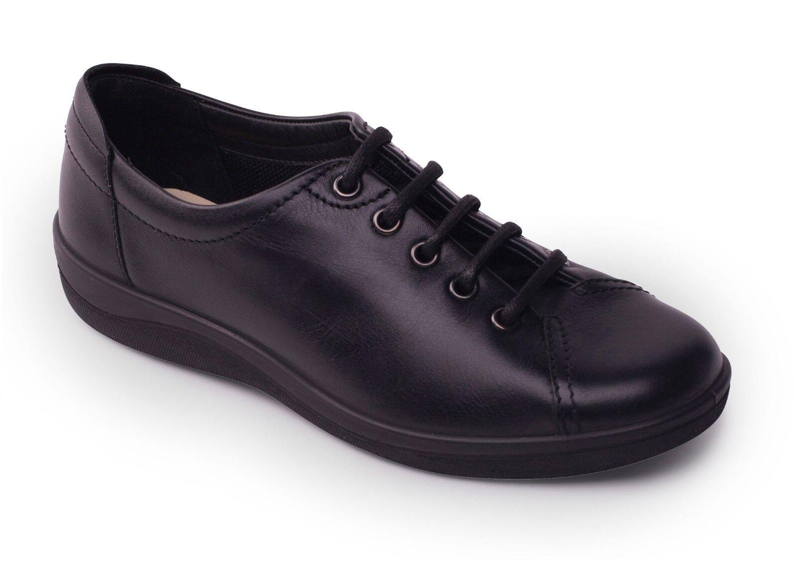 Padders Galaxy 2 in pelle e raccordo lacci comfort scarpa invernale taglia 3-9 Nero