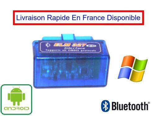 Bluetooth OBD2 OBDII ELM 327 V2.1 Wireless Auto Diagnostic Tool Super Mini ELM32