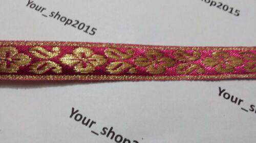 1Y Beautiful stylish embroidered pattern lace trimming ribbon dress making craft