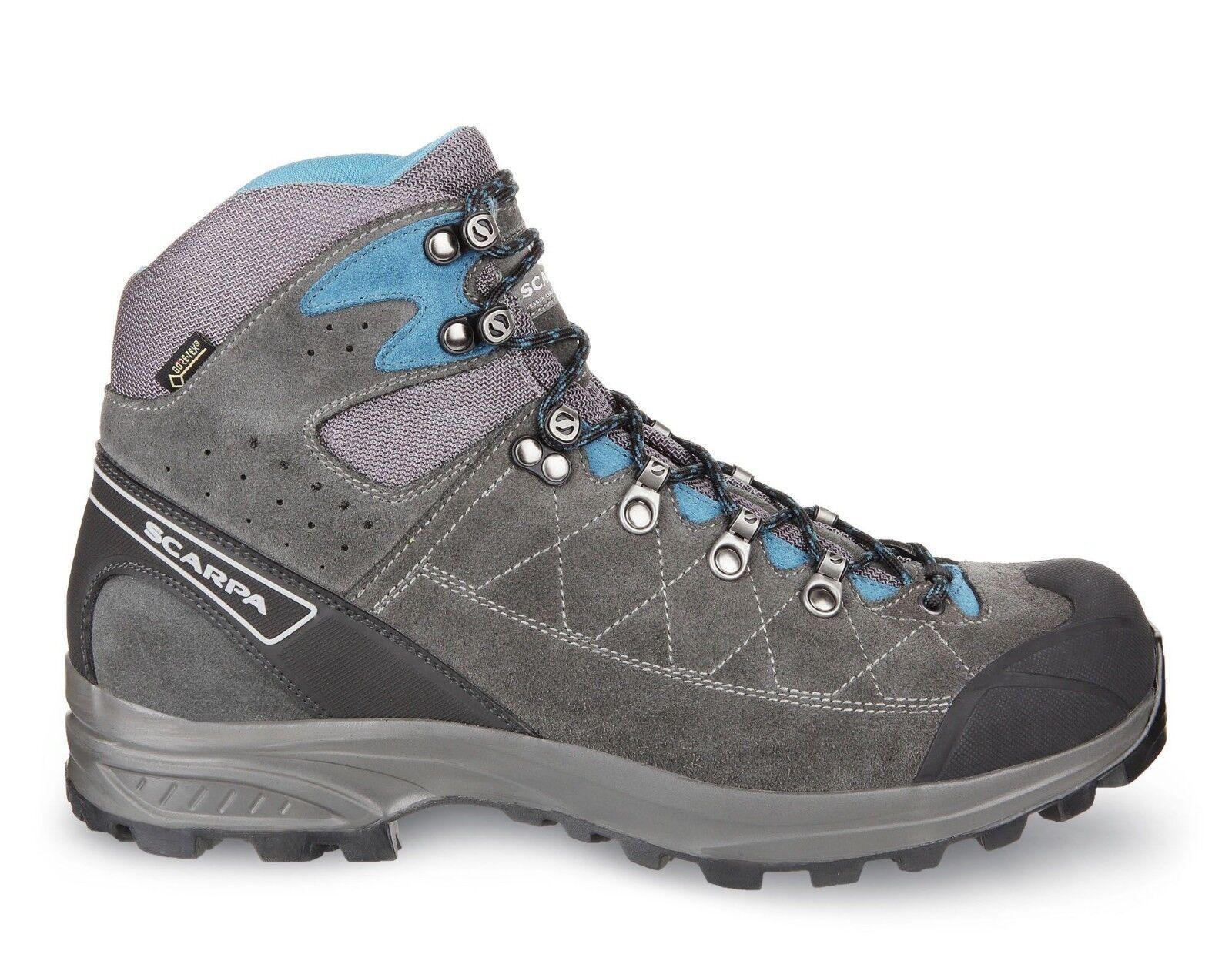 Scarpa 61056 200 Kailash Trek GTX Grey bluee Suede Gore-Tex Trail Hiking Boots