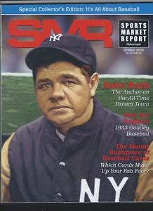 SMR-Sports-Market-Report-PSA-DNA-Guide-Magazine-BABE-RUTH-OCT-2015-USED