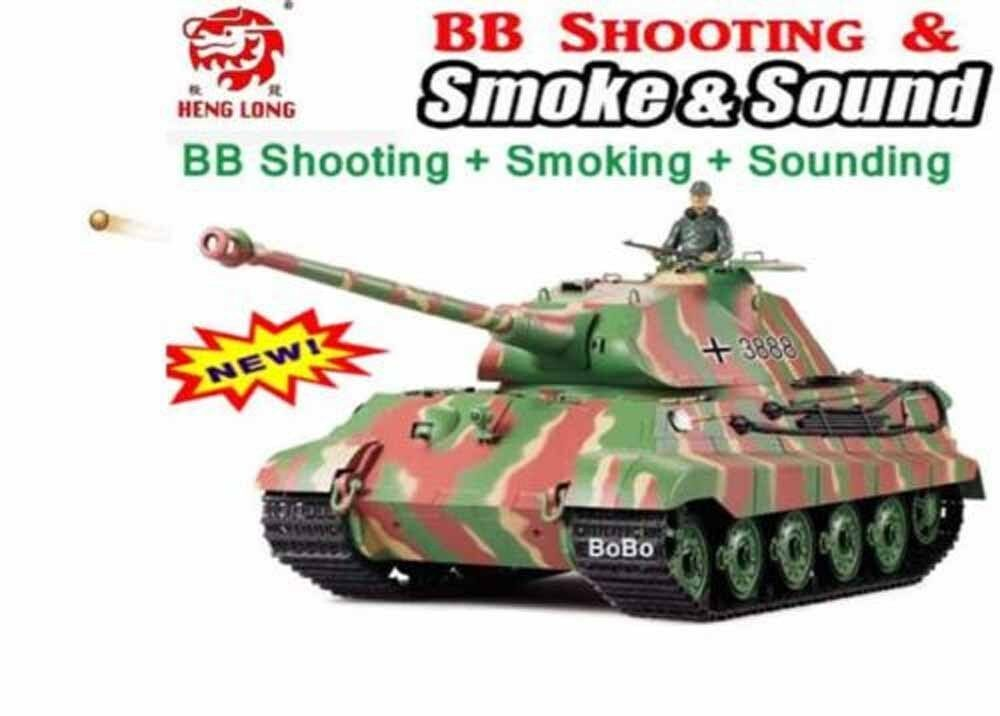 RC TANK HENG LONG King Tiger 2 4G Remote Control Military