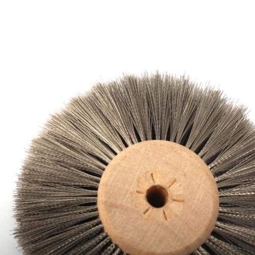"3/""Wire Wheels Round Steel Stainless Wire Brush Wheel For Bench Grinder Deburring"