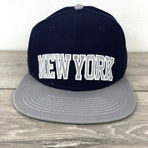 499a4632e Details about No Fear New York Mens Cap Baseball Hat Adjustable Navy Grey  R272-2
