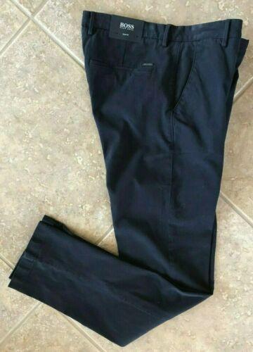 Hugo Boss Black Rice Chino Pants 36 32 Slim Fit Navy Stretch Gabardine NWT $178