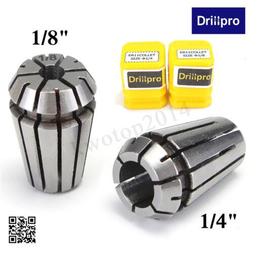 """1//8/"""" Inch Spring Collet Set for CNC Milling Lathe Drillpro 2pcs ER11 1//4/"""""""
