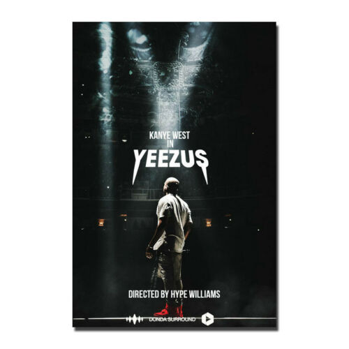 Yezzy USA Grammy Rap HIP HOP Star Silk Canvas Poster 13x20 24x36'' Kanye West