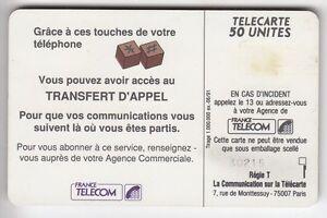 VARIETE TELECARTE FRANCE .. 50U F159A SC5 T.APPEL 0 ENVERS GE.30215 UT/TBE C.22€