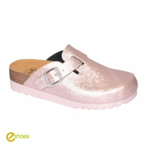 Scholl Amiata Pink Wide Fitting Women/'s Cork Slippers New Size UK