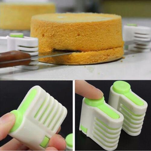 2Pcs 5 Layers DIY Cake Bread Cutter Leveler Slicer Set Cake Cutting Fixator Tool