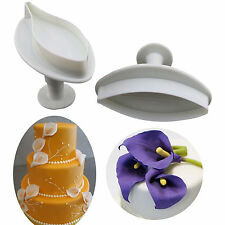 Lily Flower Cookie Cutters Cake Mould Fondant Sugarcraft Decorating Baking Molds