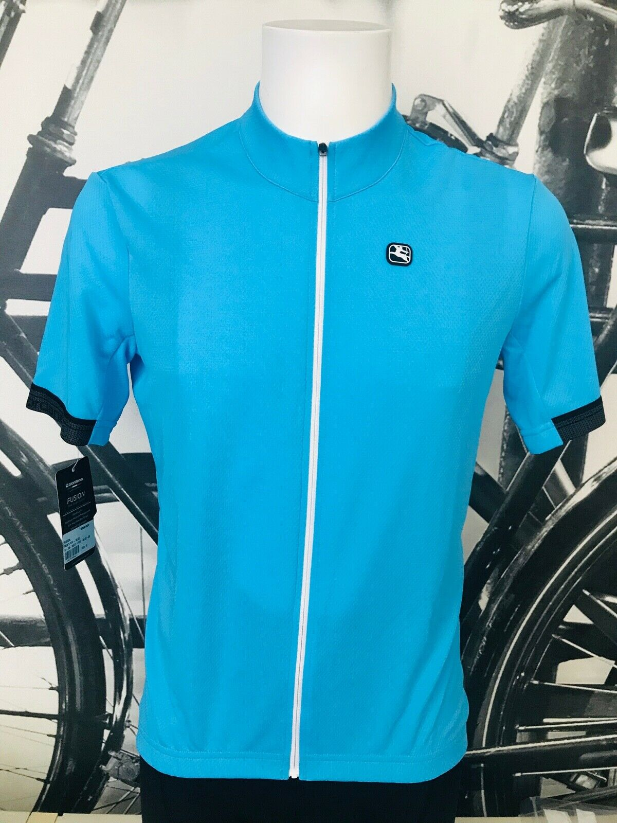 Giordana Cycling Short Sleeve Jersey Light blu  MensDimensione XL BRAND NEW