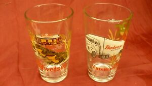 Budweiser-glass-X2-This-Bud-039-s-for-You-frog-pint-Yee-Ha-King-of-Beers