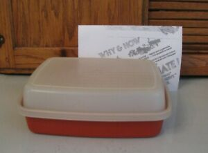 Tupperware Season Serve Marinade Jr Small Container Paprika Red Flip Over 1518