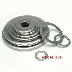 10 50pcs 316 stainless steel washer m2 m24 flat washers metric gb ebay. Black Bedroom Furniture Sets. Home Design Ideas