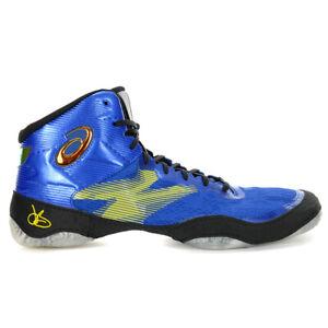 ASICS Men's JB Elite IV Asics Blue/Black Wrestling Shoes 1081A025.400 NEW