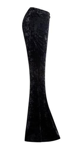 Schlag Hose Gothic Lolita Mode Samt Schnürung Vintage 70er Fashion Stil PunkRave