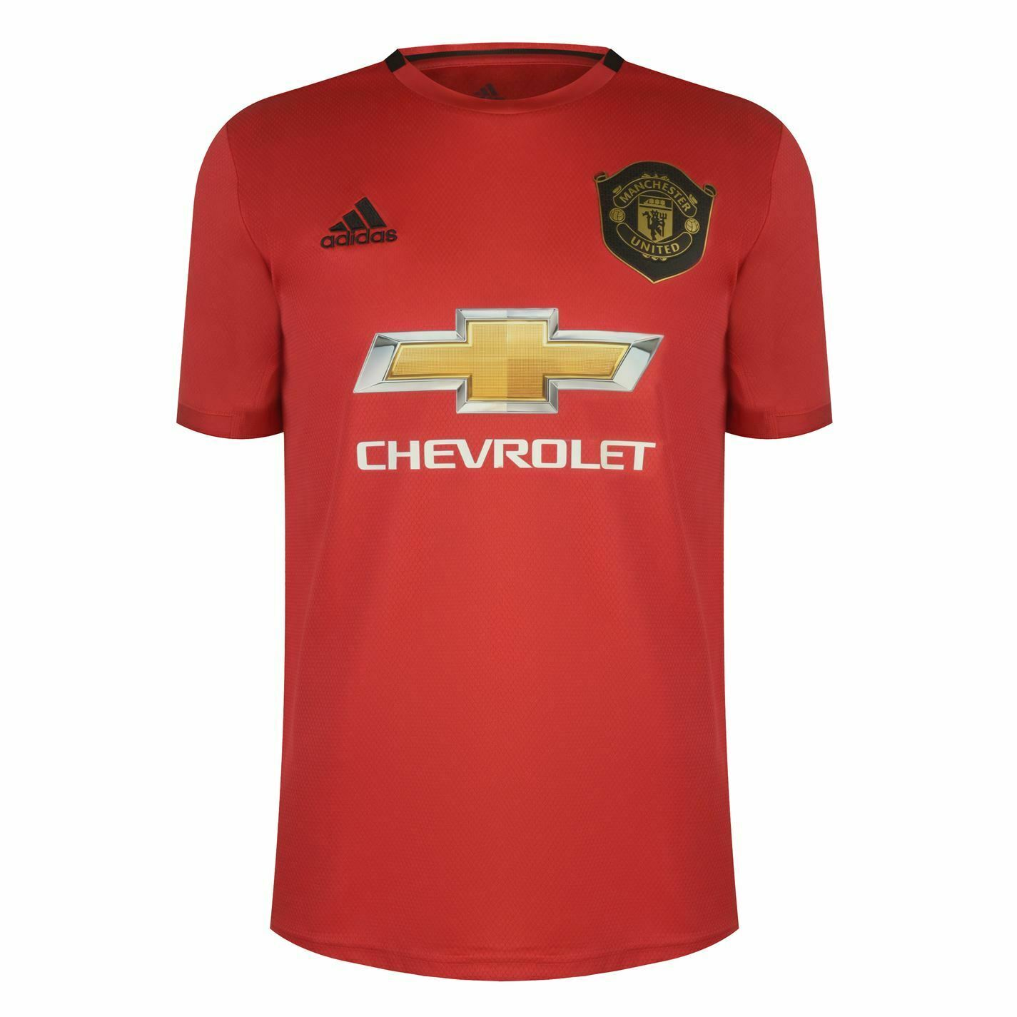 Adidas Mens Manchester United Home Shirt 2019 2020 Domestic Short Sleeve Crew