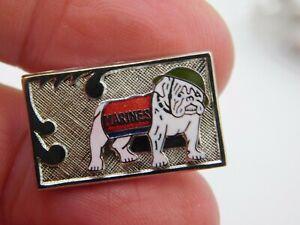 Silver Bulldog Dog Round Tie Bar Clip Clasp Tack