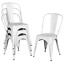 pack of 4 classic metal dining chair for indoor outdoor use chic iron dining cha
