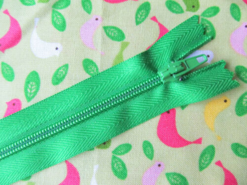 CLOSED END ZIPS 4 5 6 7 8 10in 10-25cm BIG DISCOUNTS 90p each for 4 or more