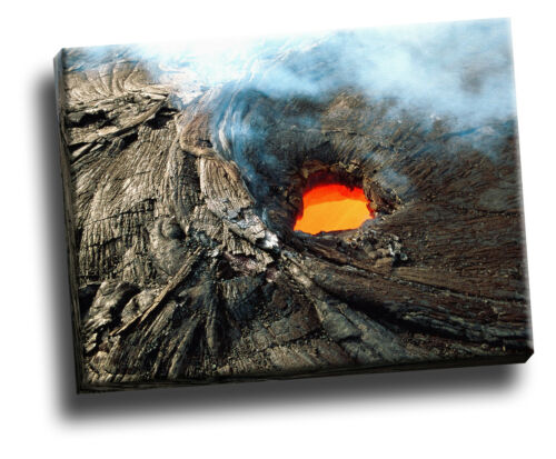 Hawaii Volcanoes National Park Giclee Canvas Storm Picture Wall Art Kilauea