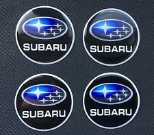SUBARU 45MM ALLOY WHEEL CAP STICKER CENTRES 45mm Digital Logo X4