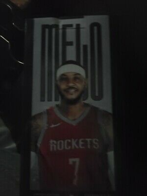 Unreleased Carmelo MELO Anthony Houston Rockets Bobblehead Bobble Head SGA