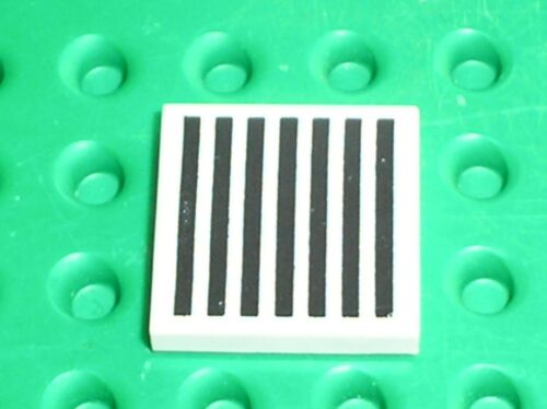 LEGO Espace Tile with Groove with Grille Black Pattern Ref 3068bp07 Set 6990